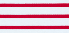 Bretonisches Damenshirt Kurzarm in versch. Farben - weiß-rot, 36