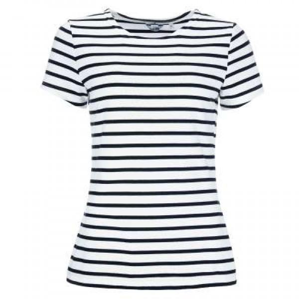 Bretonisches Damenshirt Kurzarm in versch. Farben - weiß-blau, 36