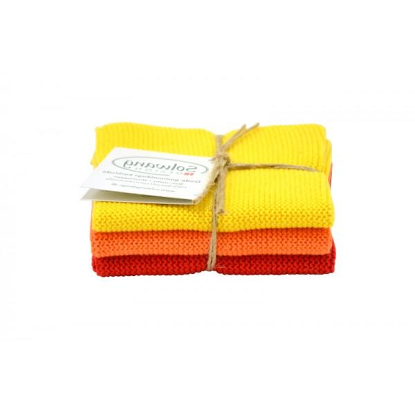 Solwang Wischtuch Gelb-Orange-Rot