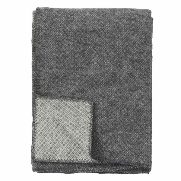 Klippan Premium Wolldecke 'Peak' - Grey