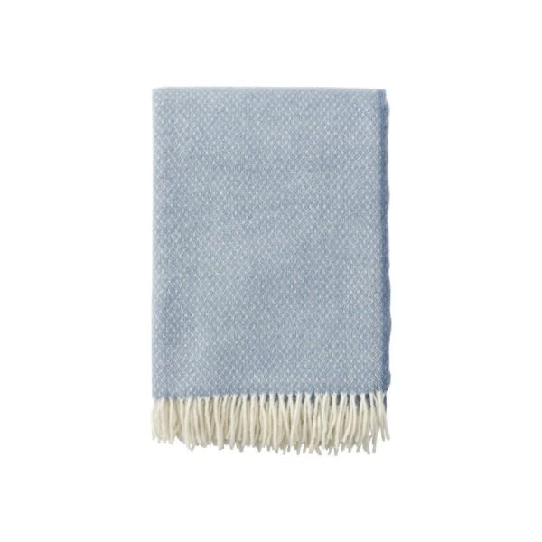 Klippan Premium Wolldecke 'Flow' - Blue Stone