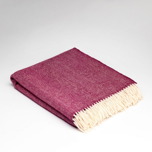 McNutts Wolldecke Supersoft Burgundy