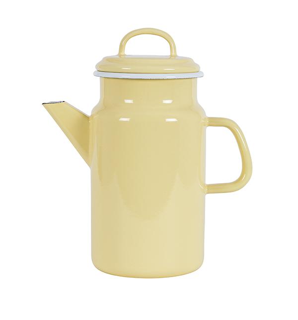 Kockums Emaille Teekanne Yellow Citrine