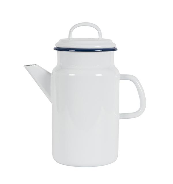 Kockums Emaille Teekanne White