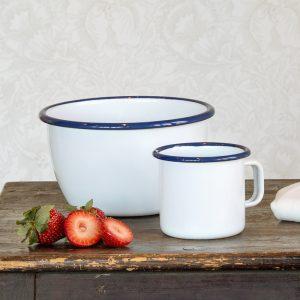Kockums Bowl und Tasse white