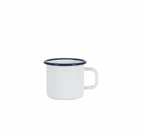 Kockums Emaille Becher White