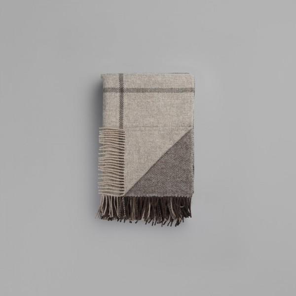 Roros Tweed Wolldecke Filos grey