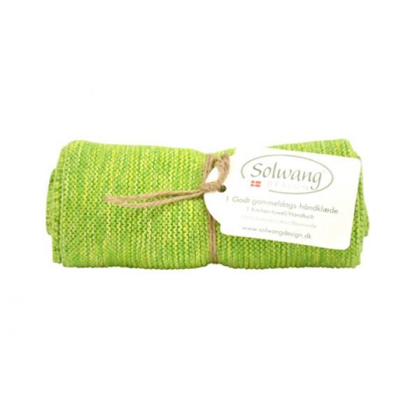Solwang Handtuch Grün meliert