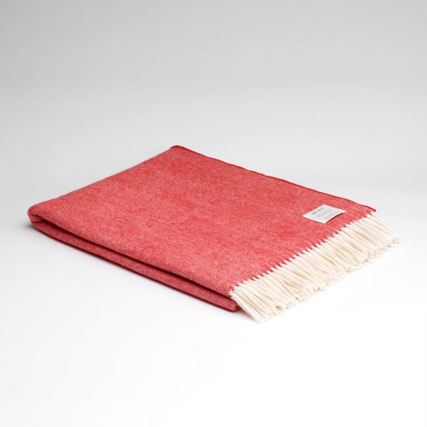 McNutts Wolldecke Supersoft Red & Cream