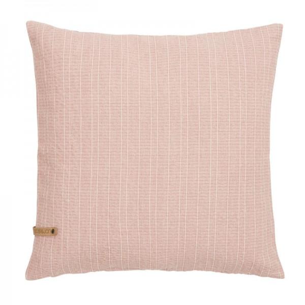Boel & Jan Kissenhülle Raw stripe Dusty pink