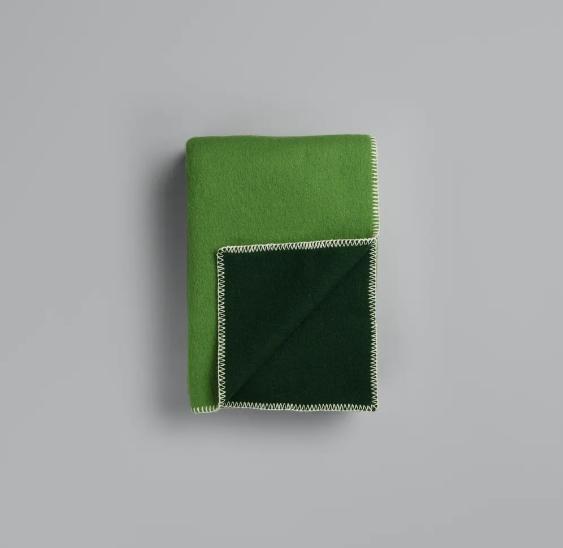 Roros Tweed Wolldecke Stemor green
