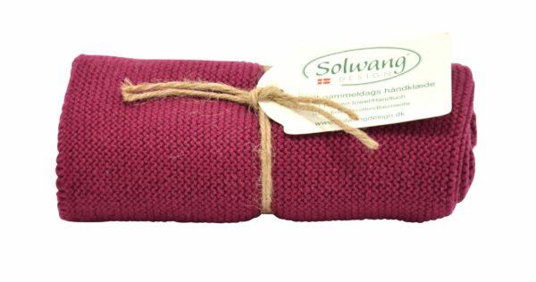 Solwang Handtuch Dunkles Bordeaux