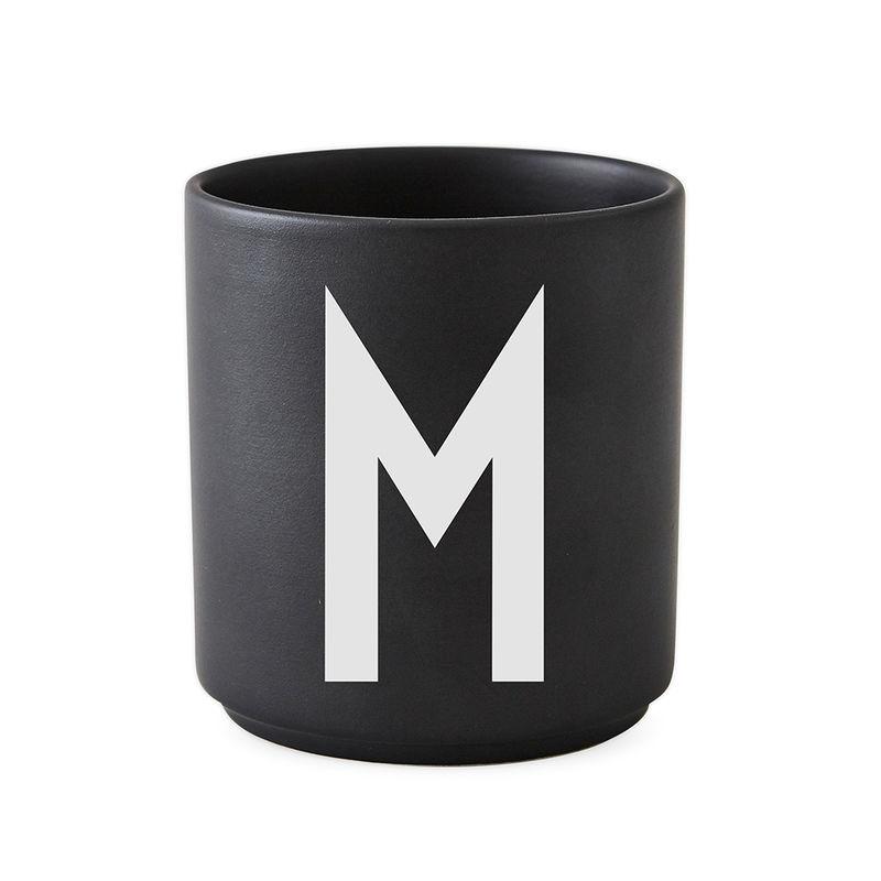 Design Letters Persönliche Porzellantasse schwarz M