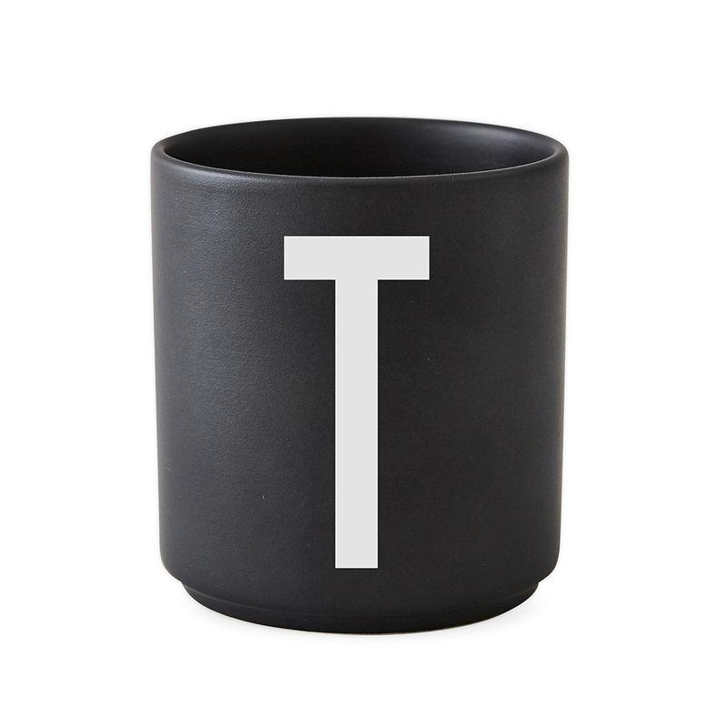 Design Letters Persönliche Porzellantasse schwarz T