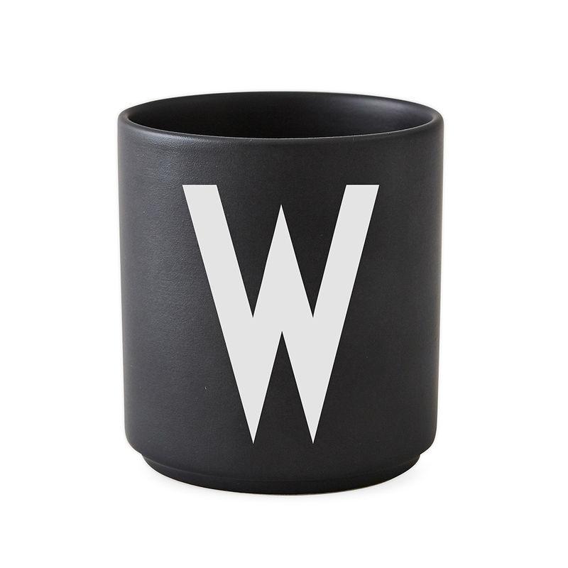 Design Letters Persönliche Porzellantasse schwarz W