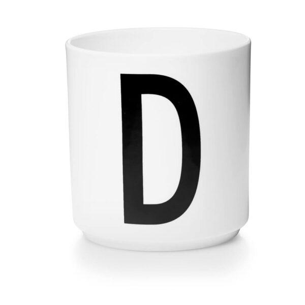 Design Letters Persönliche Porzellantasse weiß D