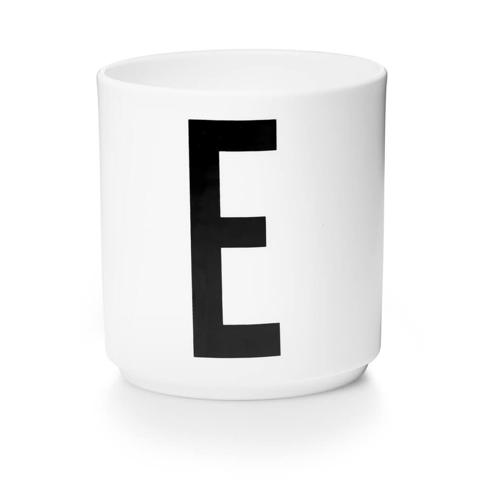 Design Letters Persönliche Porzellantasse weiß E