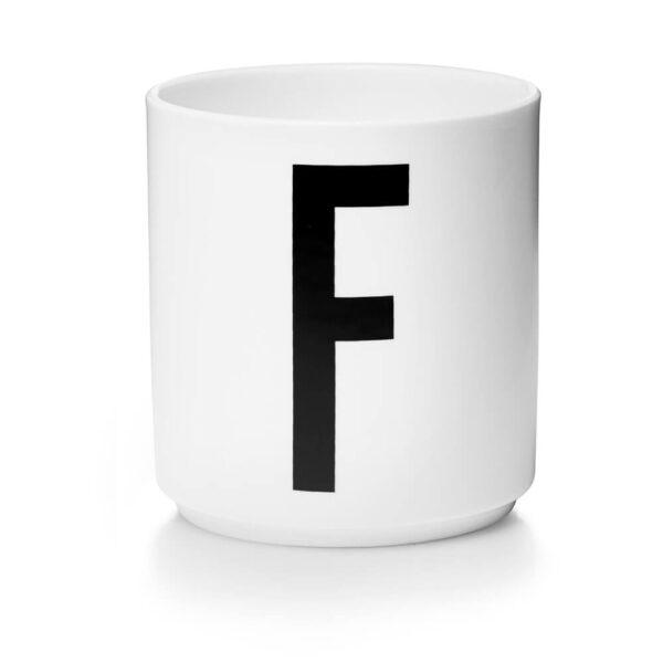 Design Letters Persönliche Porzellantasse weiß F