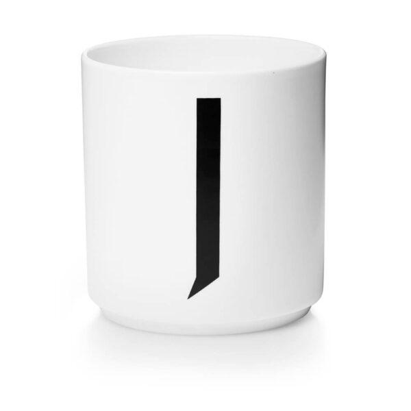 Design Letters Persönliche Porzellantasse weiß J