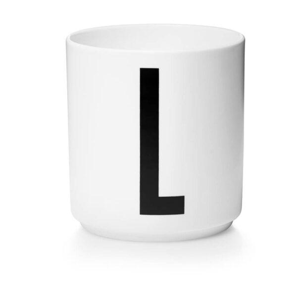Design Letters Persönliche Porzellantasse weiß L