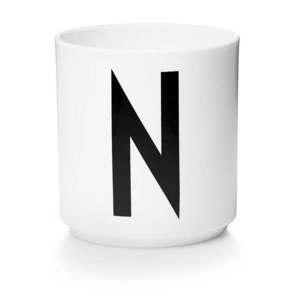 Design Letters Persönliche Porzellantasse weiß N