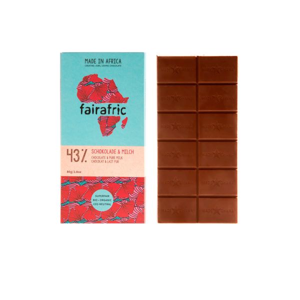 Fairafric Bio-Milchschokolade 43%